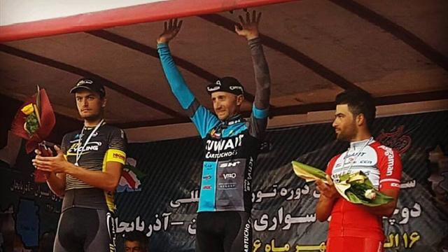 Davide Rebellin si diverte ancora: a 46 anni vince in Iran battendo allo sprint Toffali