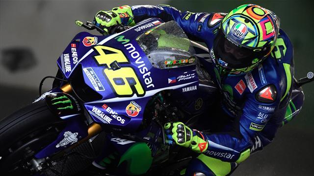 """Rossi : """"Sans adhérence, sous la pluie, nous n'avons aucune chance"""""""