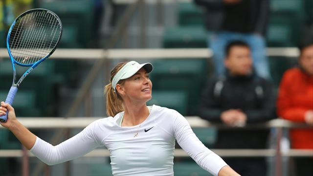 Sharapova into Tianjin Open semi-final