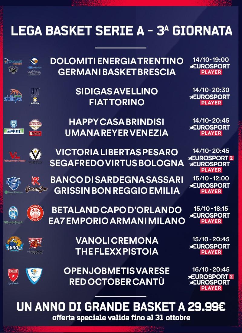Lega Basket Serie A  - 3 giornata
