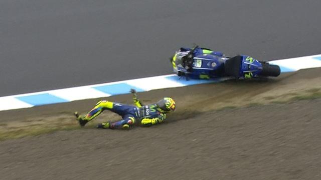 A peine remis de sa blessure, Rossi s'est fait peur