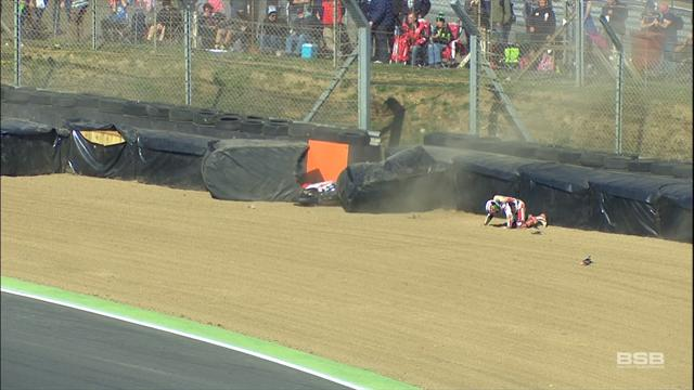 Session red flagged after scary crash