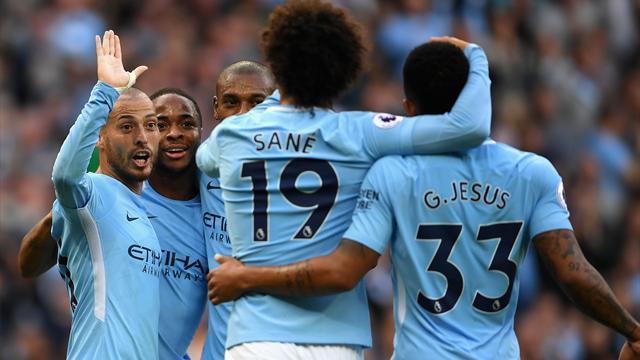 City score seven to destroy Stoke and top table in style