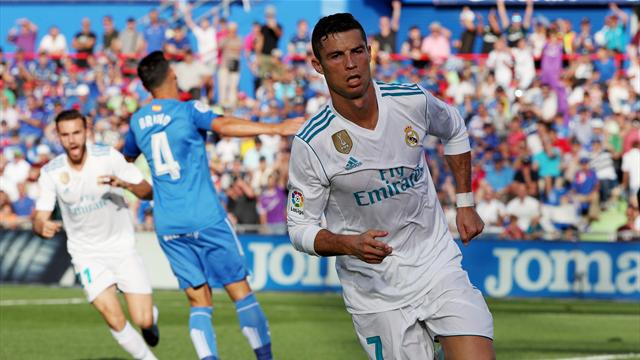 Ronaldo grabs dramatic winner as Real Madrid overcome Getafe late on