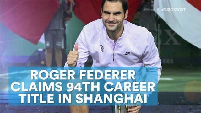 Federer claims 94th career title in Shanghai
