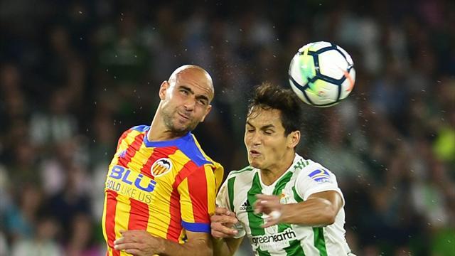 «Валенсия» и«Бетис» забили девять мячей вматче чемпионата Испании