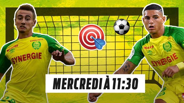 Le FC Nantes se teste à l'Eurosport Facebook Challenge ce mercrdedi à 11h30