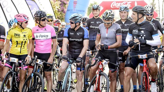 Indurain y Chiapucci rememoraron sus grandes duelos del Tour en la Vuelta Cicloturista a Ibiza