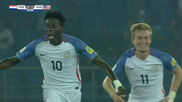 George Weah's son Timothy scores outrageous hat-trick as USA thump Paraguay at U17 World Cup