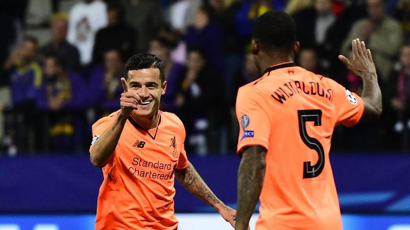 Philippe Coutinho a marqué pour Liverpool face à Maribor