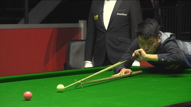 Liang Wenbo screams with delight after hitting first 147 of season for £40k prize