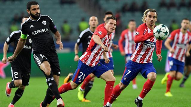 Qarabag stoico: blocca l'Atletico Madrid sullo 0-0 e fa un favore alla Roma