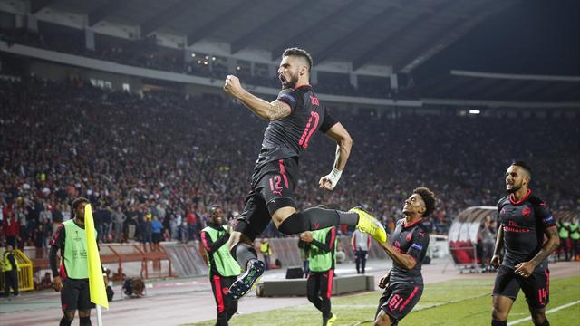 Образцовая атака «Арсенала», завершившаяся грандиозным голом Жиру через себя