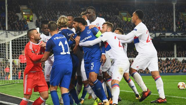 UEFA charges Everton, supporter banned following Lyon trouble