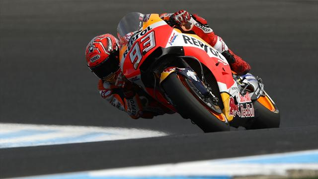 Marquez storms to pole, Dovizioso down in 11th