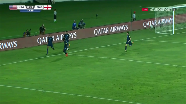 Brewster's delicious dink puts England 2-0 up