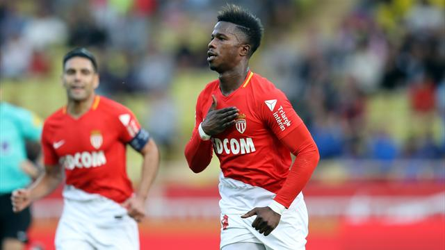 Monaco stay close to PSG with Caen win