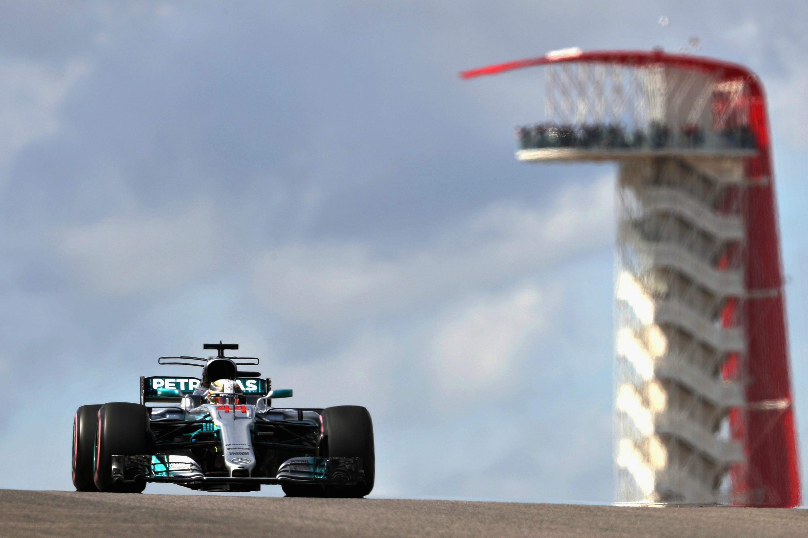 Lewis Hamilton (Mercedes) au Grand Prix des Etats-Unis d'Amérique 2017
