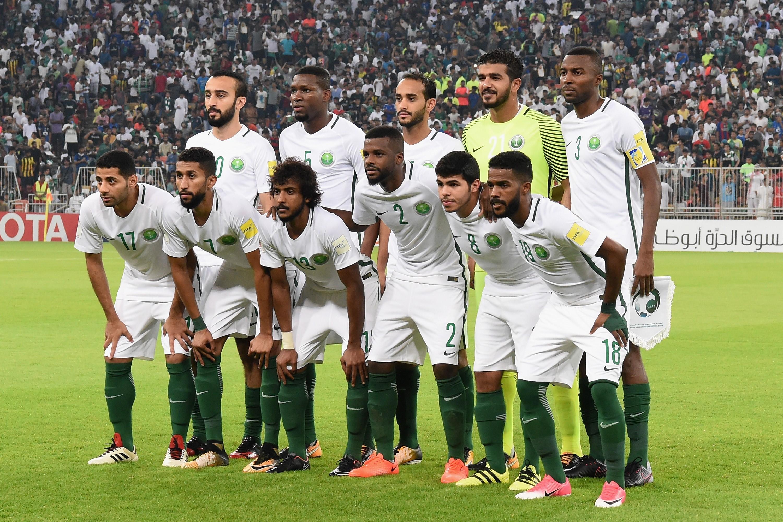 Сборная Саудовской Аравии перед матчем Саудовская Аравия – Япония