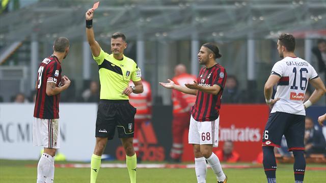 Bonucci perde la testa: espulso per una gomitata folle a Rosi, salterà anche la Juve?