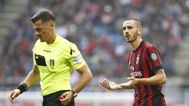 Bonucci espulso, Milan bloccato e la crisi continua: è 0-0 col Genoa