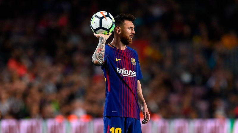 Lionel Messi lors de FC Barcelone-Malaga, le 21 octobre 2017 au Camp Nou.