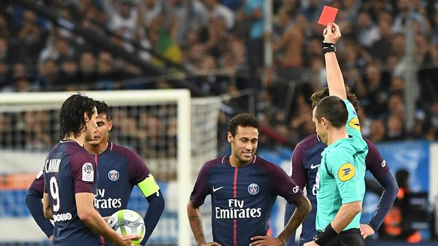Ligue 1, Olympique Marsella-PSG: Cavani salva a los de Emery y Neymar acaba expulsado (2-2)