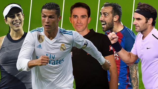 Garbiñe, Cristiano-Zidane, la Gala UCI, el Barça en Copa y Federer, los nombres del día