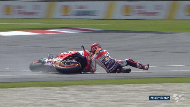 G.P. de Malasia de Moto GP: Pedrosa suma su tercera mejor clasificación del año y Márquez se cae