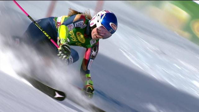 Shiffrin second after GS first run