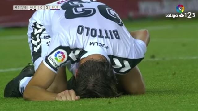 Футболисту «Альбасете» Биттоло наложили 10 швов напенис после столкновения сЗозулей