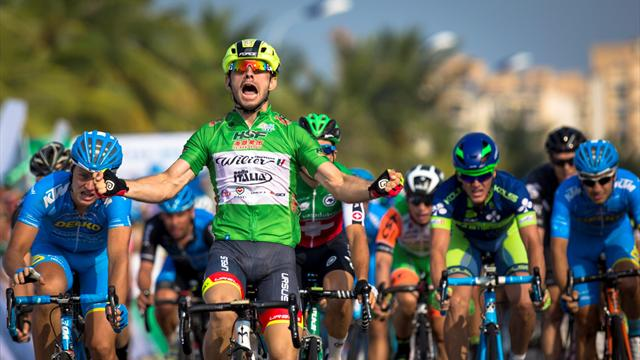 Hainan: Mareczko slips into yellow after Stage Two sprint win