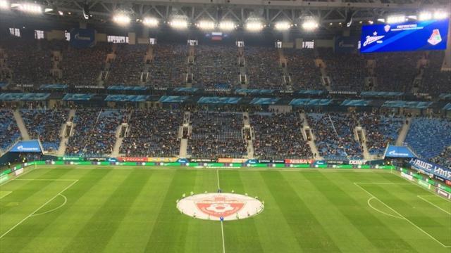 Фанаты «Зенита» вывесили мощнейший баннер в честь отца русского футбола
