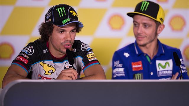 """Valentino Rossi celebra Franco Morbidelli: """"Fiero di lui, andrà forte anche in MotoGP"""""""