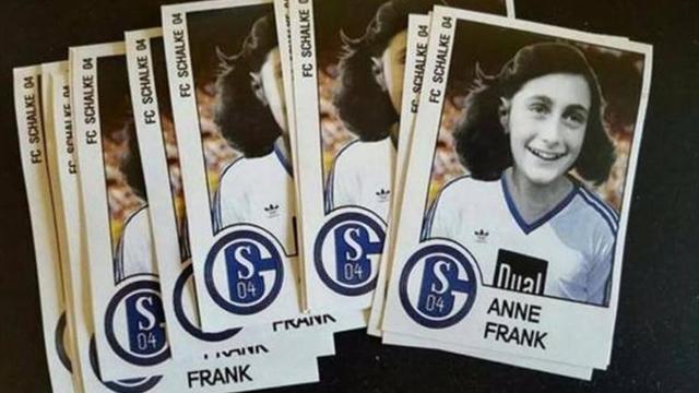 Немецкие хулиганы скосплеили «Лацио» и распространили стикеры Анны Франк в форме «Шальке»