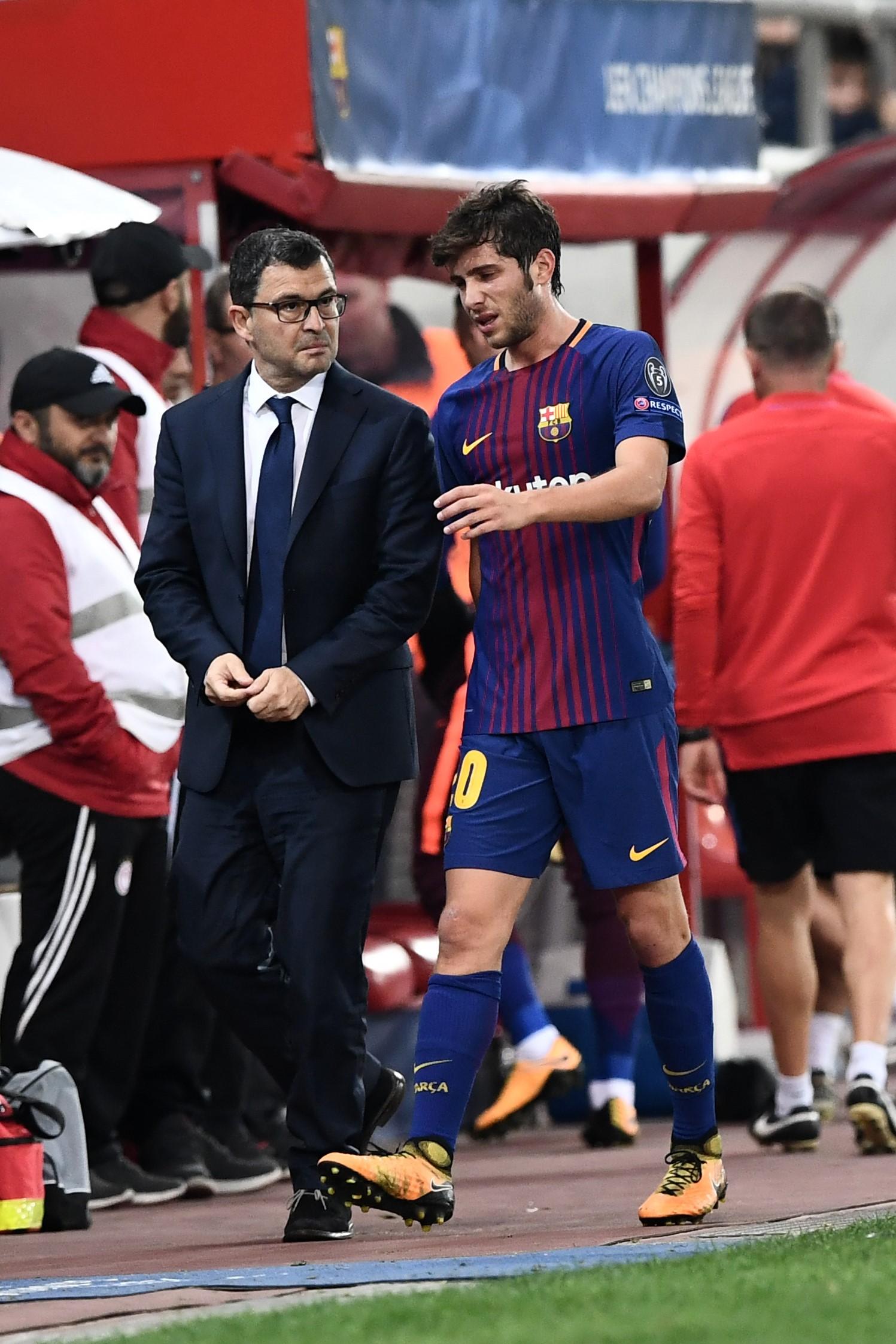 Sergi Roberto, lesionado en el Olympiacos-Barcelona