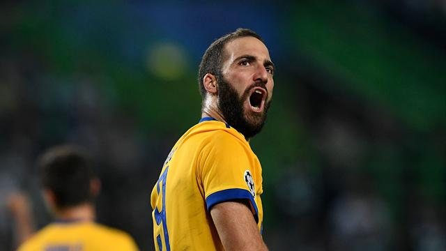 Higuain rescues draw for Juve against lively Sporting