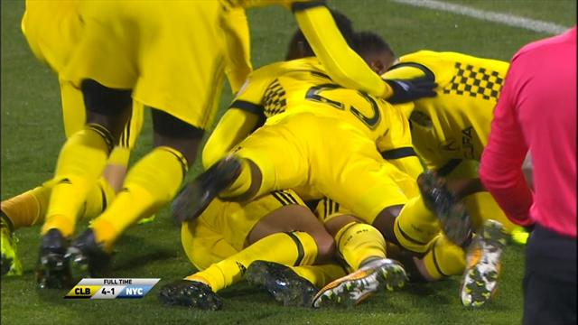 Columbus Crew-NY City: El gol de Villa solo maquilla una goleada que le deja al borde del K.O. (4-1)