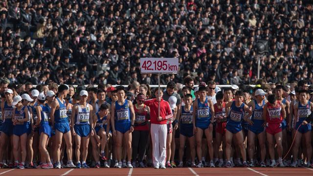 40,7km, drapeau US et voiture-balai : voici l'improbable et impitoyable marathon de Pyongyang