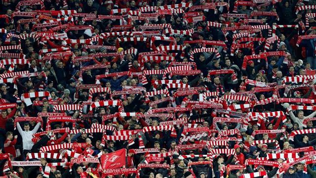 Испанцы усмиряли фанатов «Спартака» с помощью конной полиции перед матчем против «Севильи»