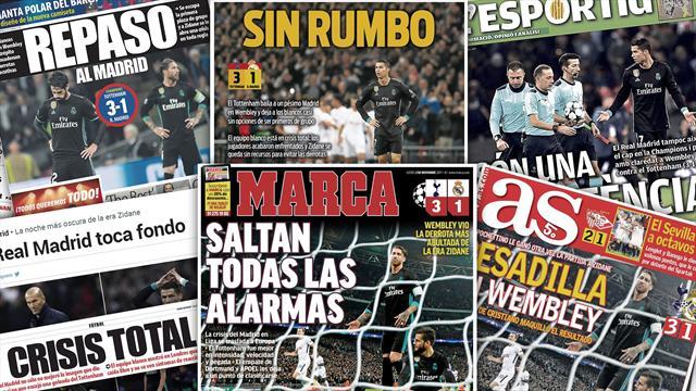 Il n'y a aucun doute pour la presse espagnole : le Real Madrid «est en crise»