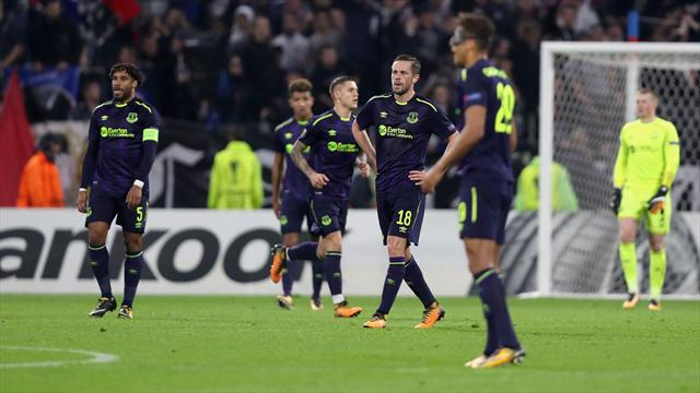 10-man Everton crash out with dismal defeat in Lyon