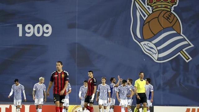 3-0. La Real hace lo justo para ganar al Vardar y confirma la segunda plaza