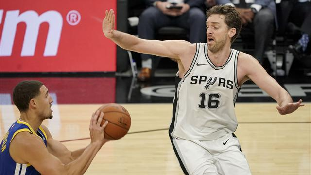 San Antonio-Golden State: Demasiados Warriors para estos diezmados Spurs (91-112)