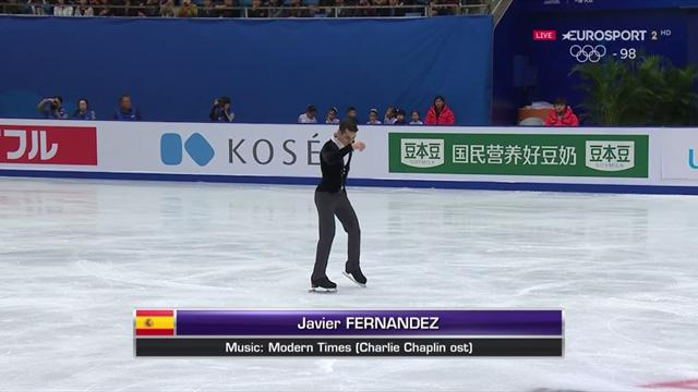 VÍDEO: La actuación de Javier Fernández, tercero en el Programa Corto de la Copa de China 2017
