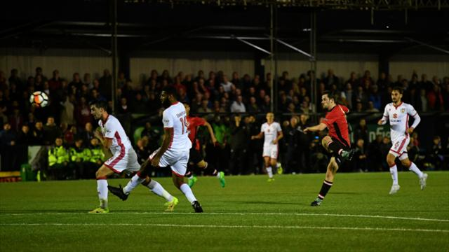 MK Dons avoid FA Cup shock at Hyde in style