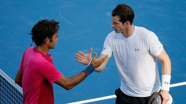 Exhibition - Roger Federer salue les efforts d'Andy Murray