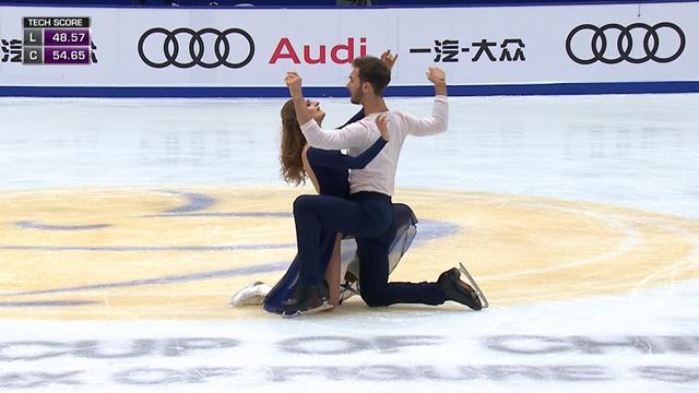 Fransız çiftten buz dansında yeni dünya rekoru