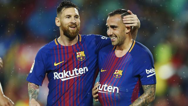 Un doblete de Paco Alcácer da la victoria al Barça ante el Sevilla (2-1)