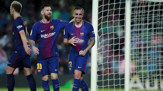 Un doublé d'Alcacer et une 10e victoire pour fêter la 600e de Messi